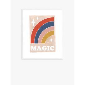image-Kid of the Village - 'Magic Rainbow' Wood Framed Print, 52 x 42cm, Multi
