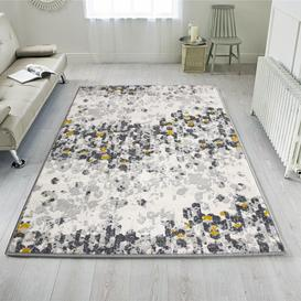 image-Red Traditional Patchwork Living Room Rug - Milan