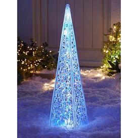 image-60 Cm Acrylic Tower Outdoor Christmas Light