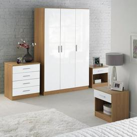 image-Carleton 4-Piece High-Gloss Bedroom Set