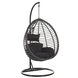 image-Lia Tollo Swing Chair with Stand Freeport Park Colour: Black