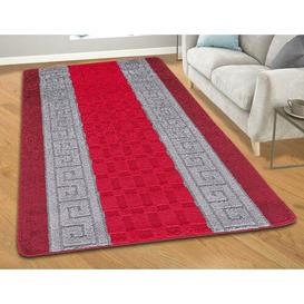 image-Tufted Red/Grey Indoor/Outdoor Rug Symple Stuff Rug Size: Rectangle 120 x 150cm