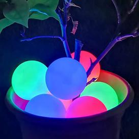 image-DeeprBlu Hot Tub Lights, IP68 Waterproof Floating Pool Light, RGB Color Changing Bathtub Night Light, LED Spa Light Up Ball Light Gift for Lazy Spa Lover Friend Family Boys Girls Birthday Party-(2pcs) - Open Box