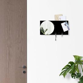 image-Wall Mirror Key Hook Ebern Designs Finish: Black