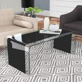image-Aldwick Coffee Table Wade Logan Finish: Black