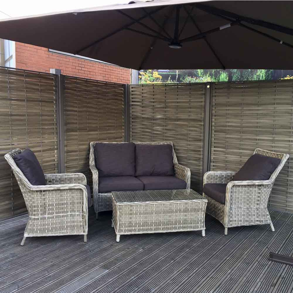 image-Signature Weave Garden Furniture Mia 2 Seater Sofa Set in 3 Weave Caramel