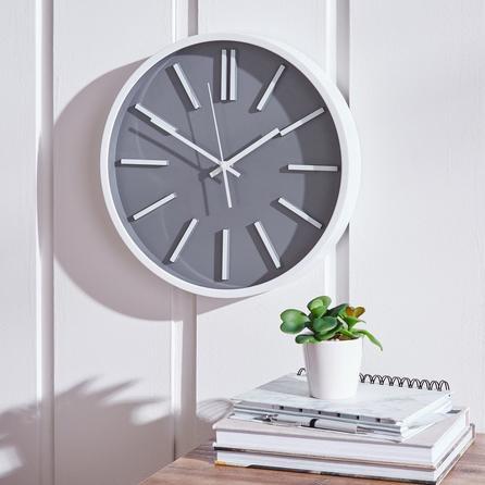 image-Modern 35cm Wall Clock Grey Grey