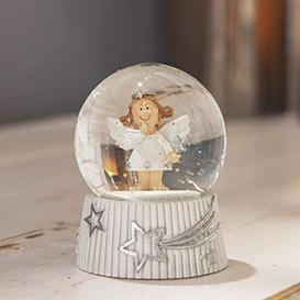 image-Hand Painted Christmas Angel Snow Globe - 8cm