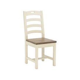 image-Carisbrooke Dining Chair with Square Legs and Wooden Seat, Stucco White