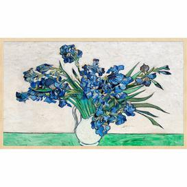 image-'Vase with Flowers' Framed Painting Print Rosalind Wheeler Size: 98 cm H x 148 cm W