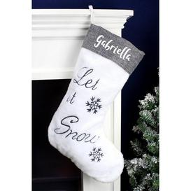 image-Personalised Let it Snow Christmas Stocking