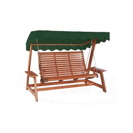 image-Alexander Rose Sussex Mahogany Swing Seat - Green