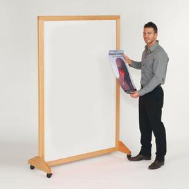 image-180cm x 120cm Wood Mobile 1 Panel Room Divider Symple Stuff Colour: White