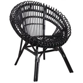 image-Dresden Natural Tub Chair Bay Isle Home Colour: Black