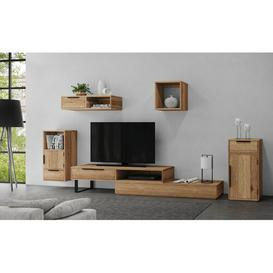 """image-Jordyn Entertainment Unit for TVs up to 88\"""" Union Rustic Colour: Oak"""