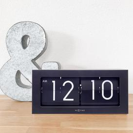image-Digital Stainless Steel Quartz Tabletop Clock in Black