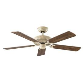 image-132cm Almanza 5 Blade Ceiling Fan with Remote Ophelia & Co. Finish: Lacquered Antique White