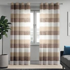 image-Marilyn Grommet Semi-Sheer Curtains Zipcode Design Size per Panel: 140 W x 229 D cm, Colour: Natural