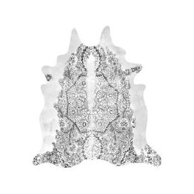 image-Persian Faux Cowhide Rug (size: 150x165cm, colour: Grey)