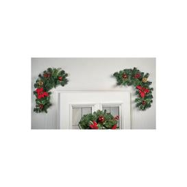 image-Set of 2 Poinsettia Swags