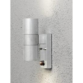 image-Modena 2-Light Outdoor Sconce with PIR Sensor Konstsmide Finish: Raw Galvanised Steel