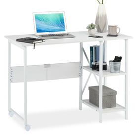 image-Schock Writing Desk Symple Stuff Tabletop/Frame colour: White