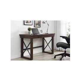 image-Next-Day Cober Veneer Computer Desk (Espresso), Free Standard Delivery