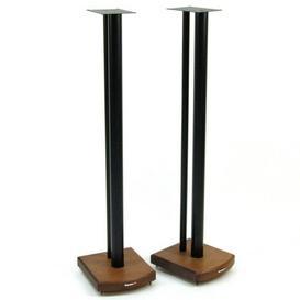 image-100cm Fixed Height Speaker Stand Symple Stuff Finish: Black/Dark Bamboo