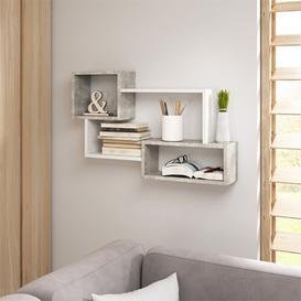 image-Kassi Wall Shelf Selsey Living Finish: White/Grey