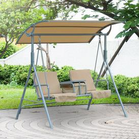 image-Weside Swing Seat with Stand Freeport Park Colour: Beige