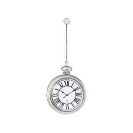 image-Barclay Wall Clock in Nickel