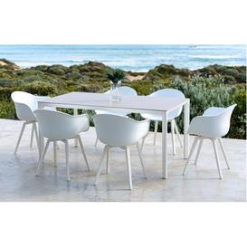 image-Milan  Garden Dining Set  6 Seats  White