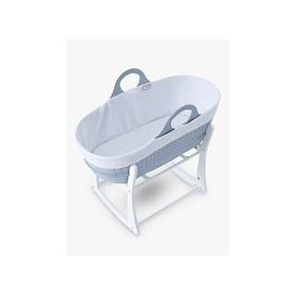 image-Tommee Tippee Sleepee Baby Moses Basket and Rocking Stand, Grey