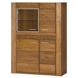 image-Velvet 15 Display Sideboard Cabinet in Rustic Oak - Oak Rustical 110cm