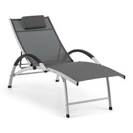 image-Sun Valley Reclining Sun Lounger Blumfeldt Textile colour: Grey