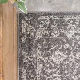 image-Grey Distressed Traditional Rug - Vivid