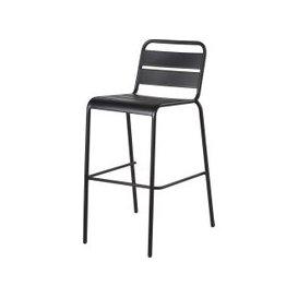 image-Black Metal Garden Bar Chair Batignolles
