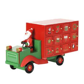 image-Gisela Graham - Wooden Santa Lorry Advent Calendar