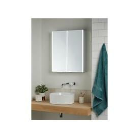 image-John Lewis & Partners Vertical Double Mirrored and Illuminated Bathroom Cabinet