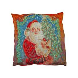image-Festive Christmas Cushions - Father Christmas 2 for £10