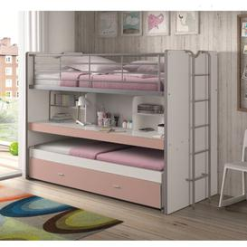 image-Briggs European Single Bunk Bed Isabelle & Max Bed frame colour: White/Pink