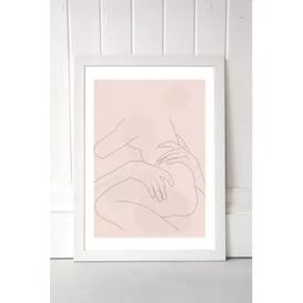 image-Flower Love Child The Lovers Wall Art Print - White UK 3 at Urban Outfitters