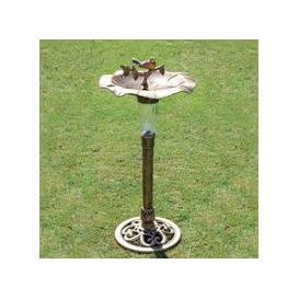 image-Bright Garden Bird Bath With Solar Light