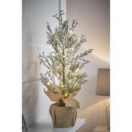 image-Pre-lit Pine Table Top Christmas Tree