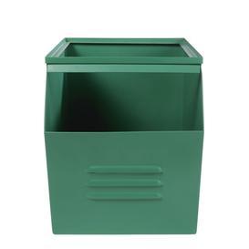 image-Green Metal Toy Box