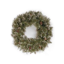 image-Sparkling Pine Christmas Wreath with 15 Pine Cones - 2ft / 60cm