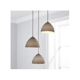 image-Emily 3 Light Glass Cluster Fitting Grey