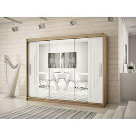 image-Natalie 3 Door Sliding Wardrobe Natur Pur Colour: Sonoma oak/Matt white