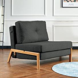 image-Farlow 1 Seater Futon Chair Corrigan Studio Upholstery Colour: Black