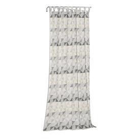 image-Gareth Tab Top Room Darkening Single Curtain Mikado Living Curtain colour: Light grey/Grey, Size: 175cm H x 132cm W